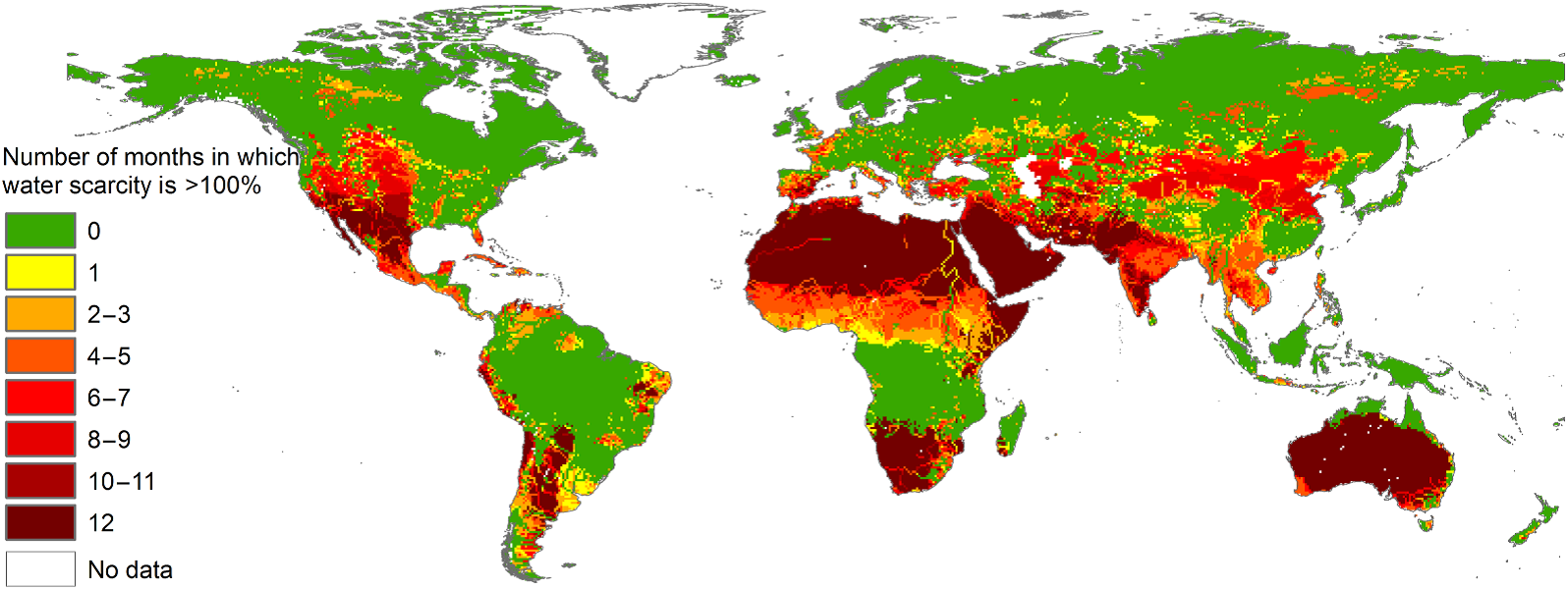 Two-Thirds of the World Population Facing Severe Water Scarcity