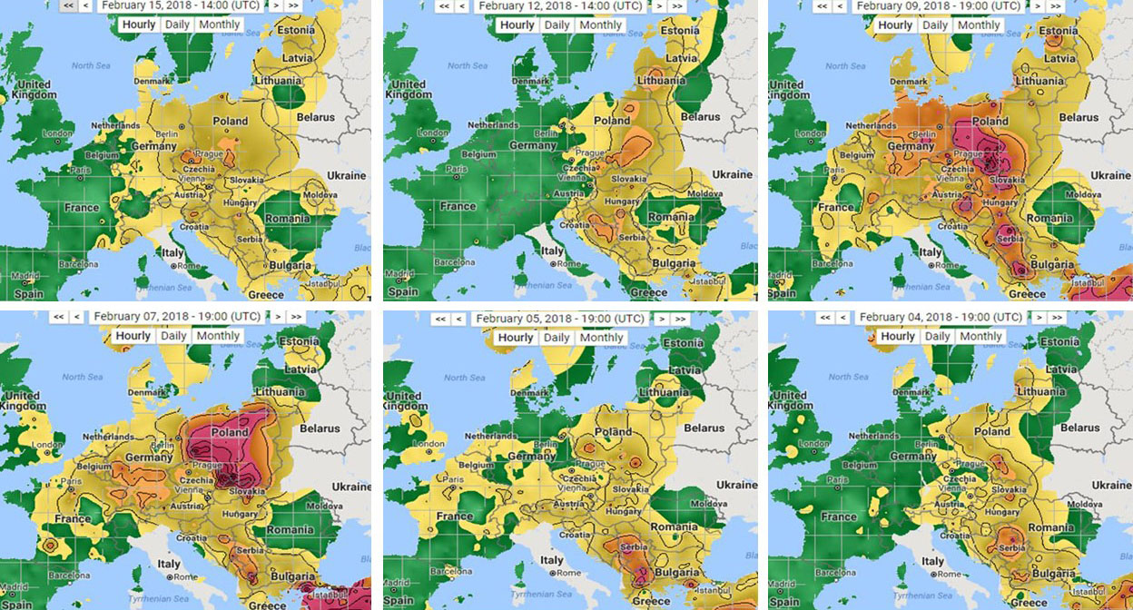 Seasonally Persistent Air Pollution in Europe