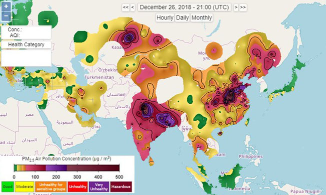 Overview of Air Pollution and Fossil CO2 Emissions in Asia
